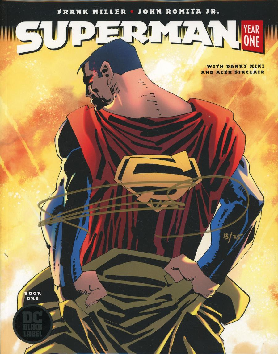 Superman Year One #1 Cover C DF Gold Signature Series Signed By Frank Miller