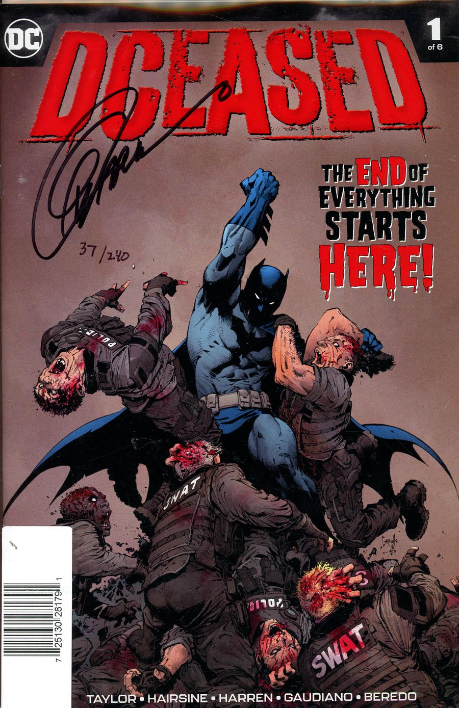 DCeased #1 Cover E DF Signed By Greg Capullo