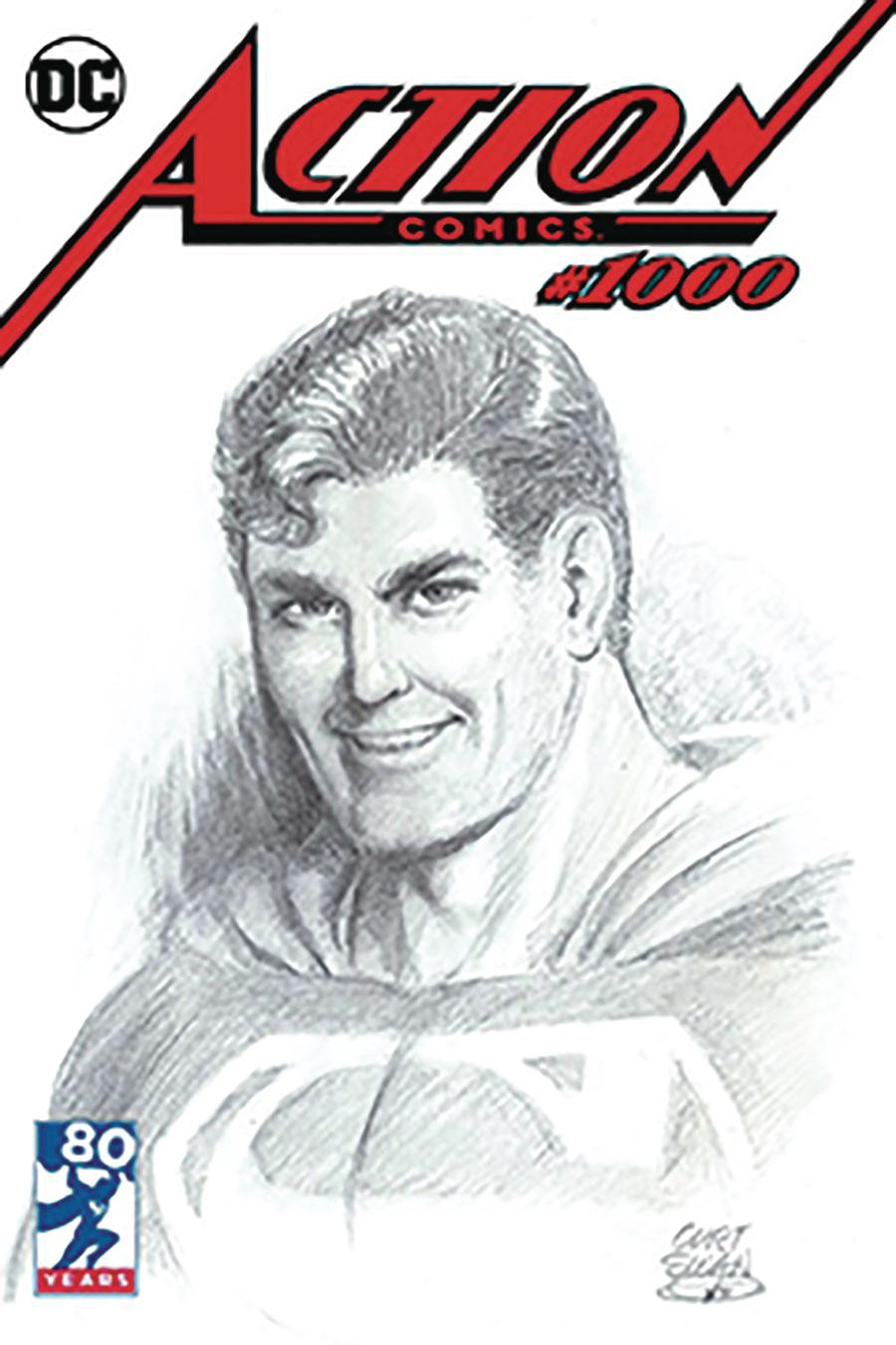 Action Comics Vol 2 #1000 Cover Z-Z-B DF Exclusive Curt Swan Variant Cover Gold Signature Series Signed By Peter J Tomasi