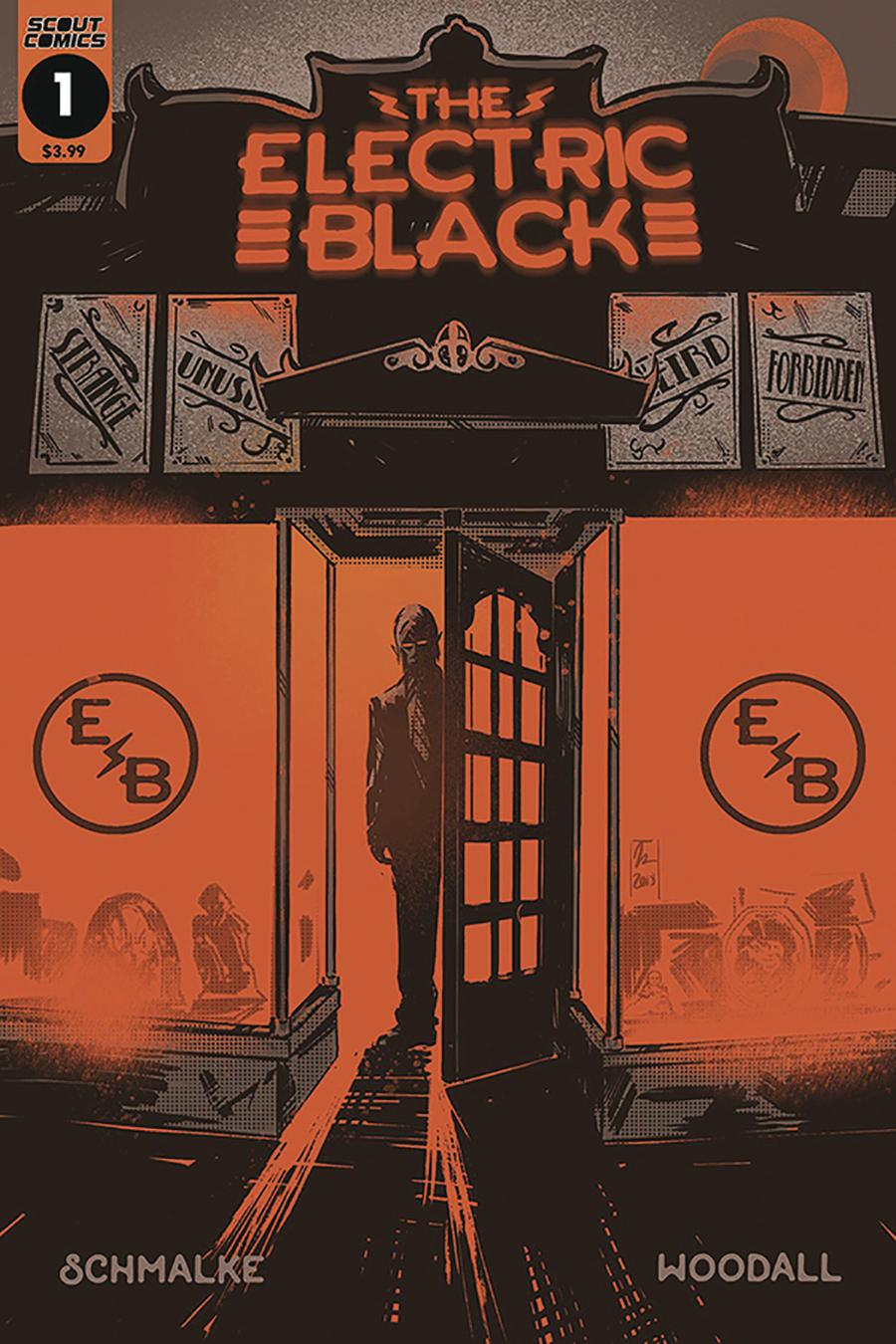 Electric Black #1 Cover C DF Signed By Joseph Schmalke & Rich Woodall