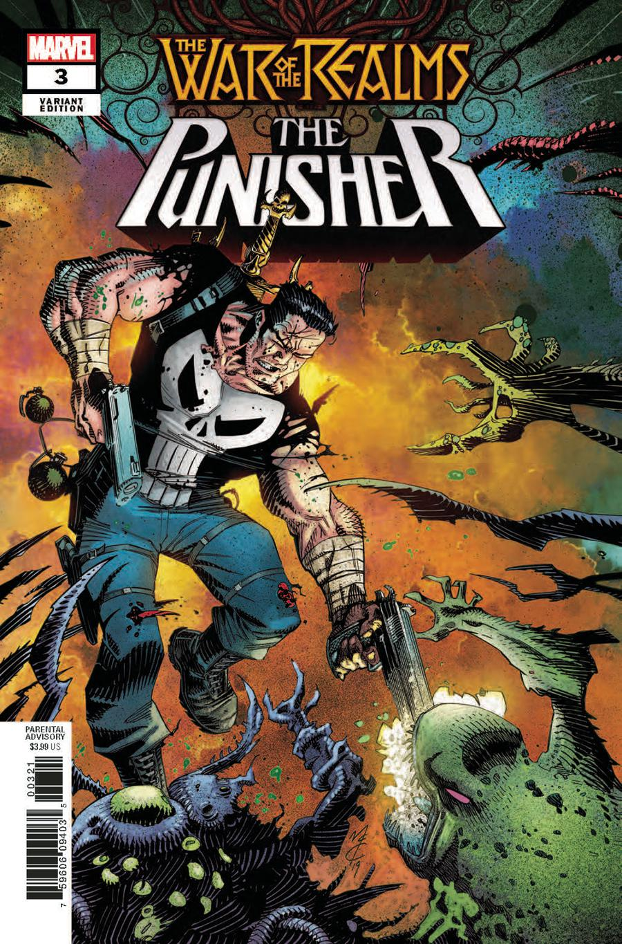 War Of The Realms Punisher #3 Cover B Incentive John McCrea Variant Cover