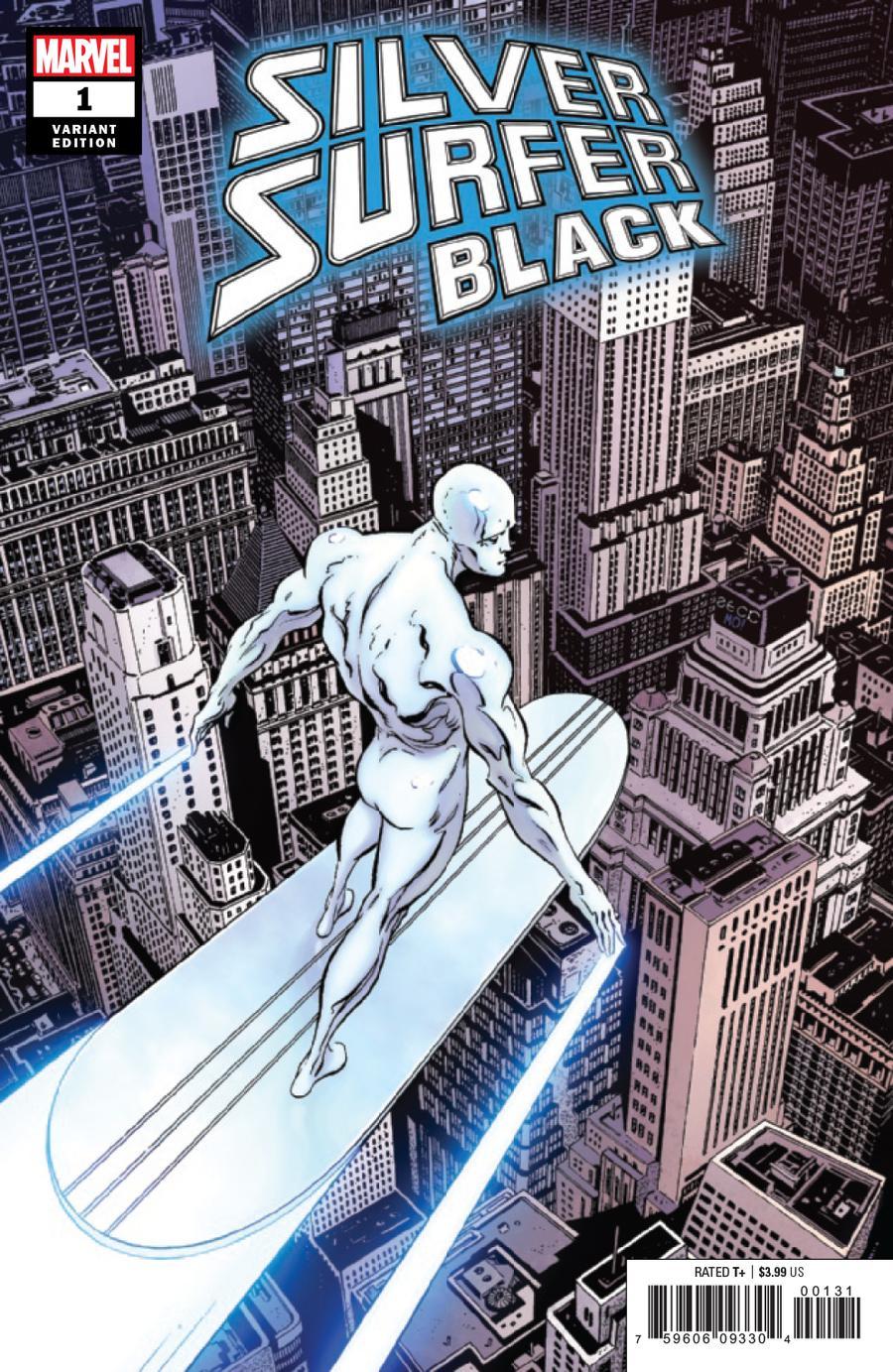 Silver Surfer Black #1 Cover G Incentive Mike Zeck Hidden Gem Variant Cover