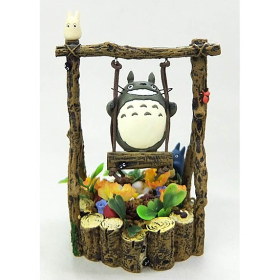 My Neighbor Totoro Figurine - Totoro On Swing
