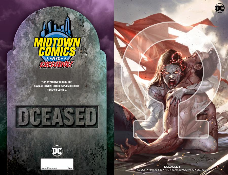 DCeased #1  Midtown Exclusive Cover B Inhyuk Lee Connecting Omega Variant Cover