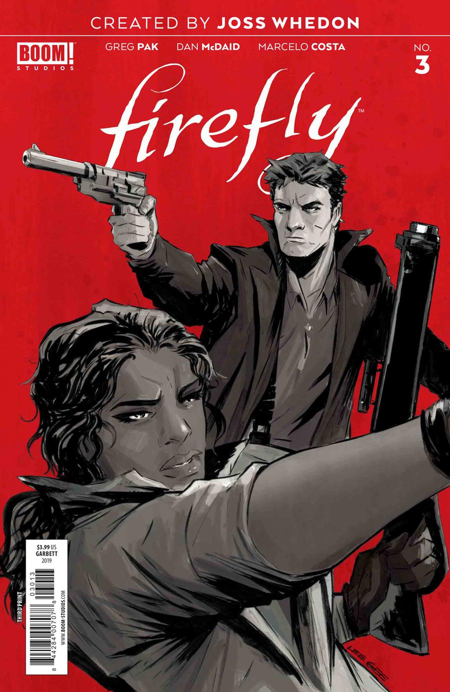 Firefly #3 Cover H 3rd Ptg Variant Lee Garbett Cover