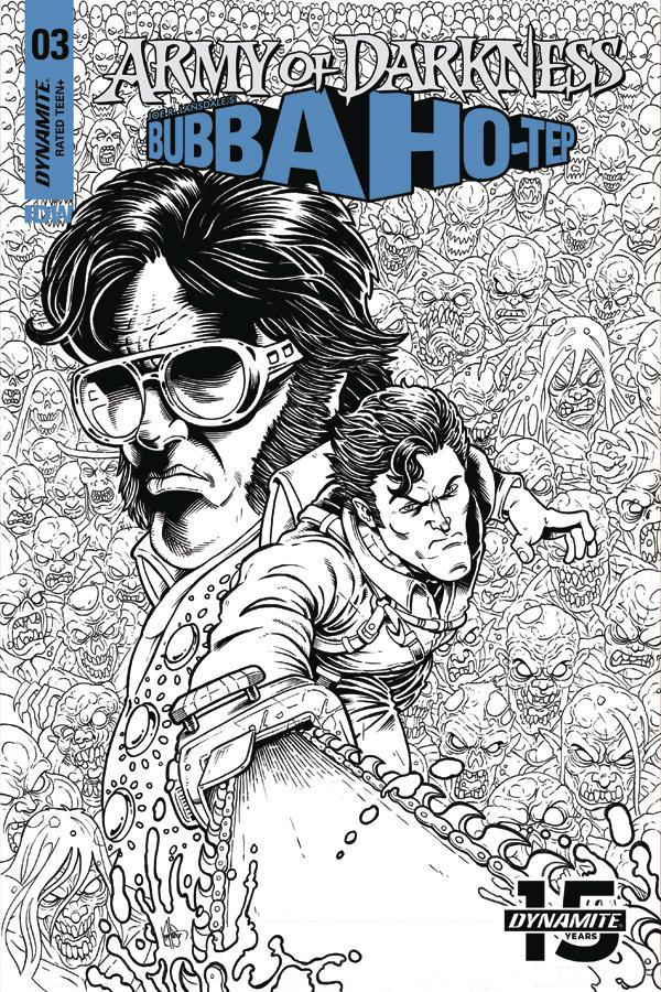 Army Of Darkness Bubba Ho-Tep #3 Cover F Incentive Ken Haeser Black & White Cover