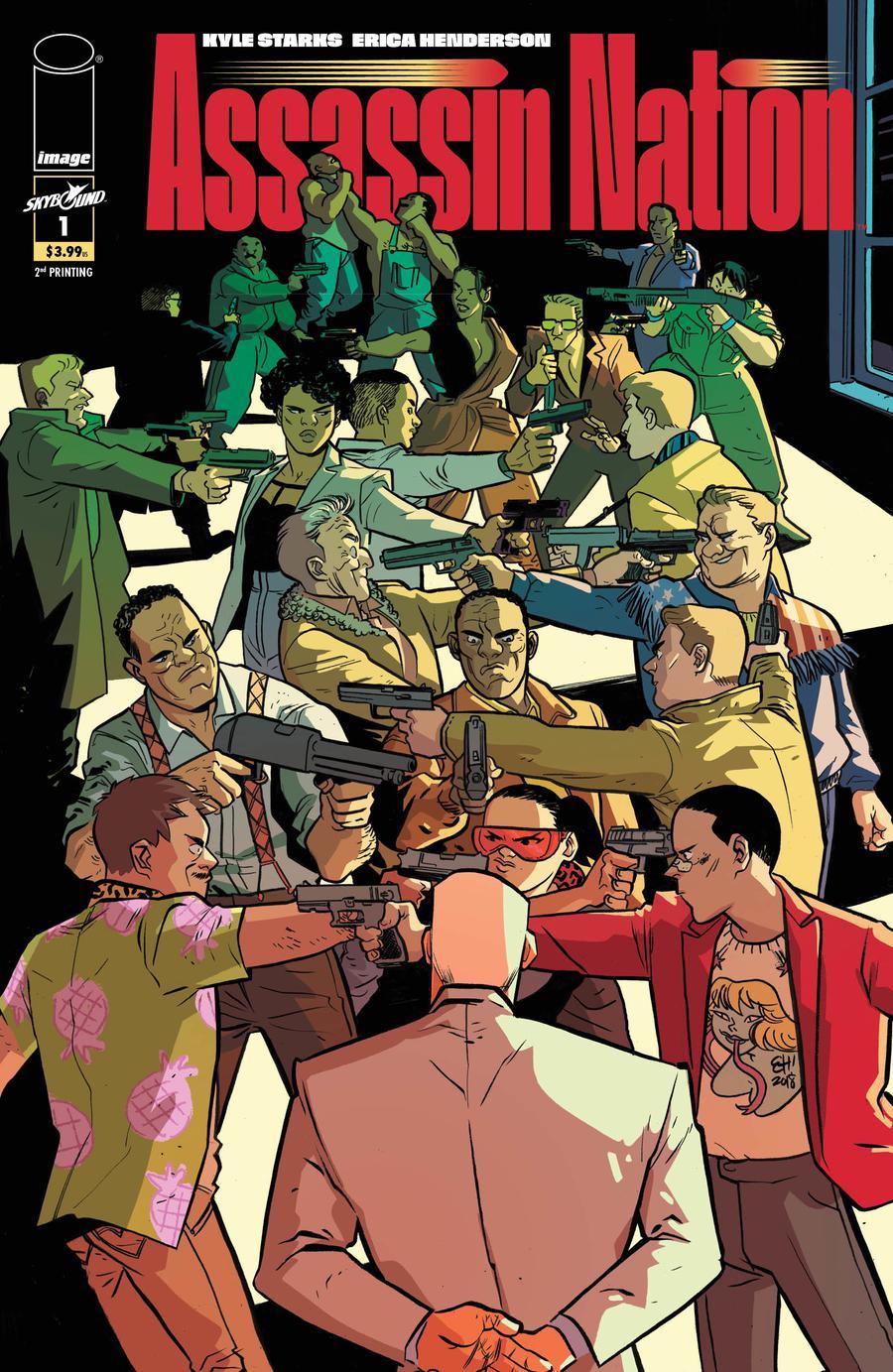 Assassin Nation #1 Cover C 2nd Ptg Variant Erica Henderson Cover