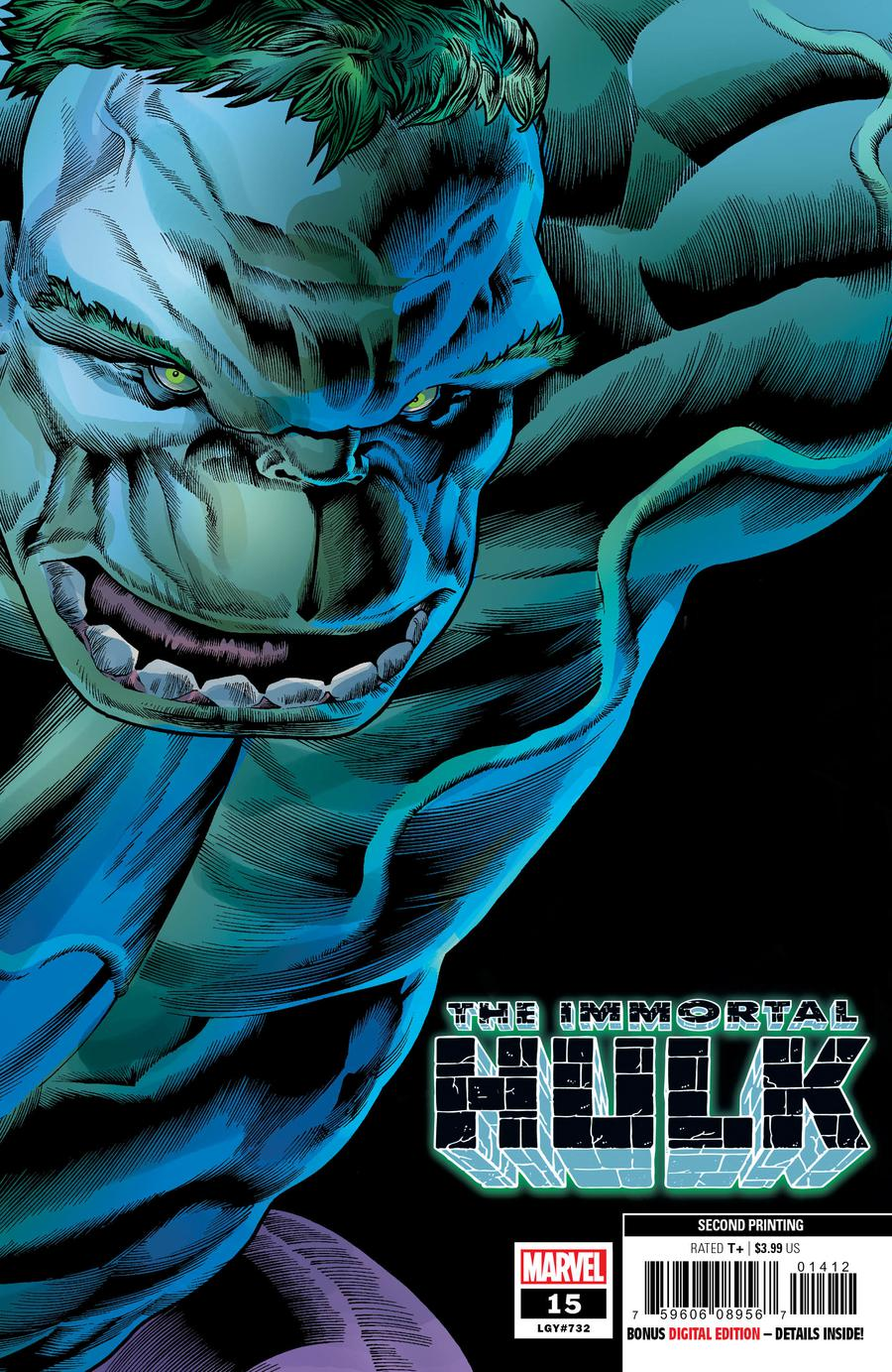 Immortal Hulk #15 Cover C 2nd Ptg Variant Joe Bennett Cover