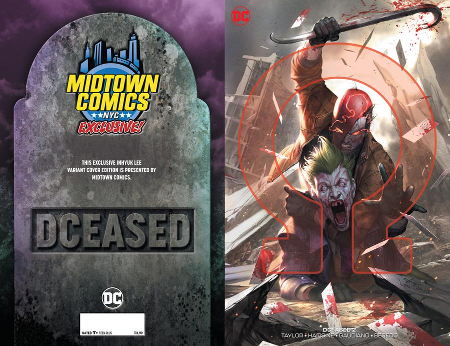 DCeased #2  Midtown Exclusive Cover B Inhyuk Lee Connecting Omega Variant Cover