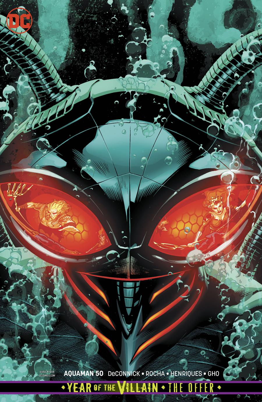 Aquaman Vol 6 #50 Cover B Variant Ryan Sook Card Stock Cover (Year Of The Villain The Offer Tie-In)