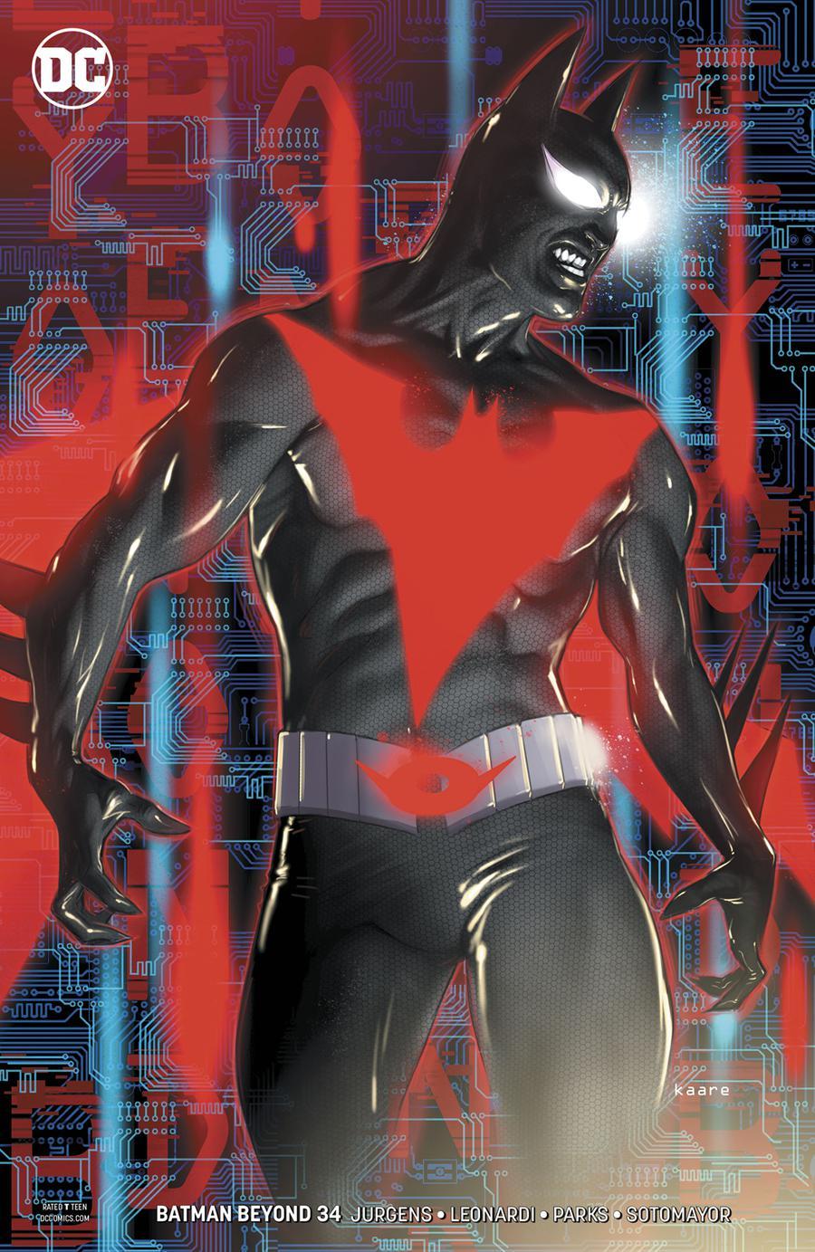 Batman Beyond Vol 6 #34 Cover B Variant Kaare Andrews Cover