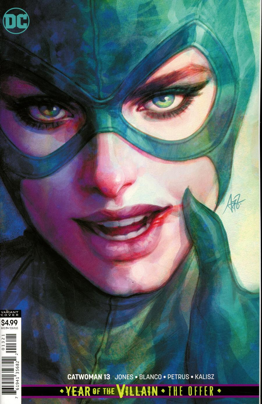 Catwoman Vol 5 #13 Cover B Variant Stanley Artgerm Lau Card Stock Cover (Year Of The Villain The Offer Tie-In)