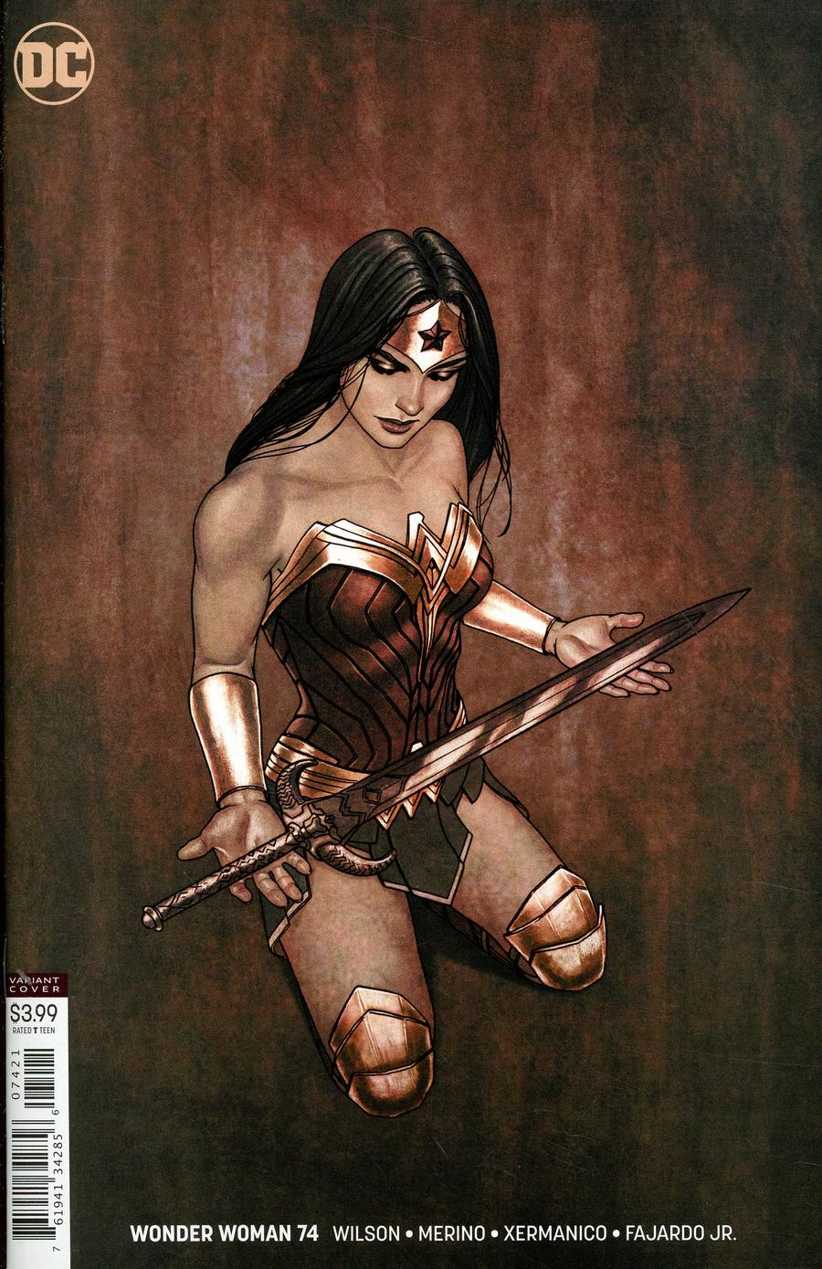 Wonder Woman Vol 5 #74 Cover B Variant Jenny Frison Cover