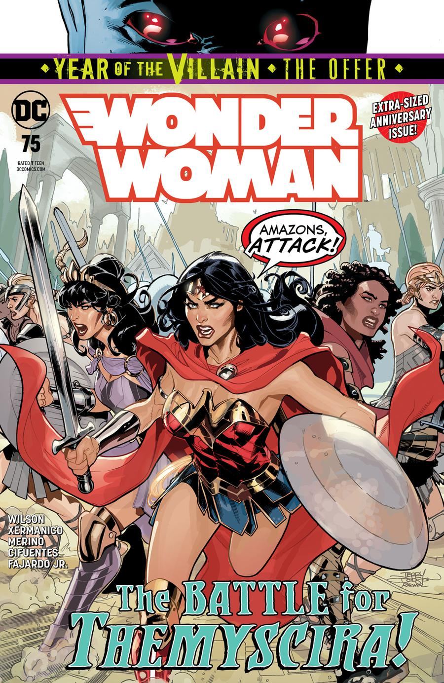 Wonder Woman Vol 5 #75 Cover A Regular Terry Dodson & Rachel Dodson Cover (Year Of The Villain The Offer Tie-In)