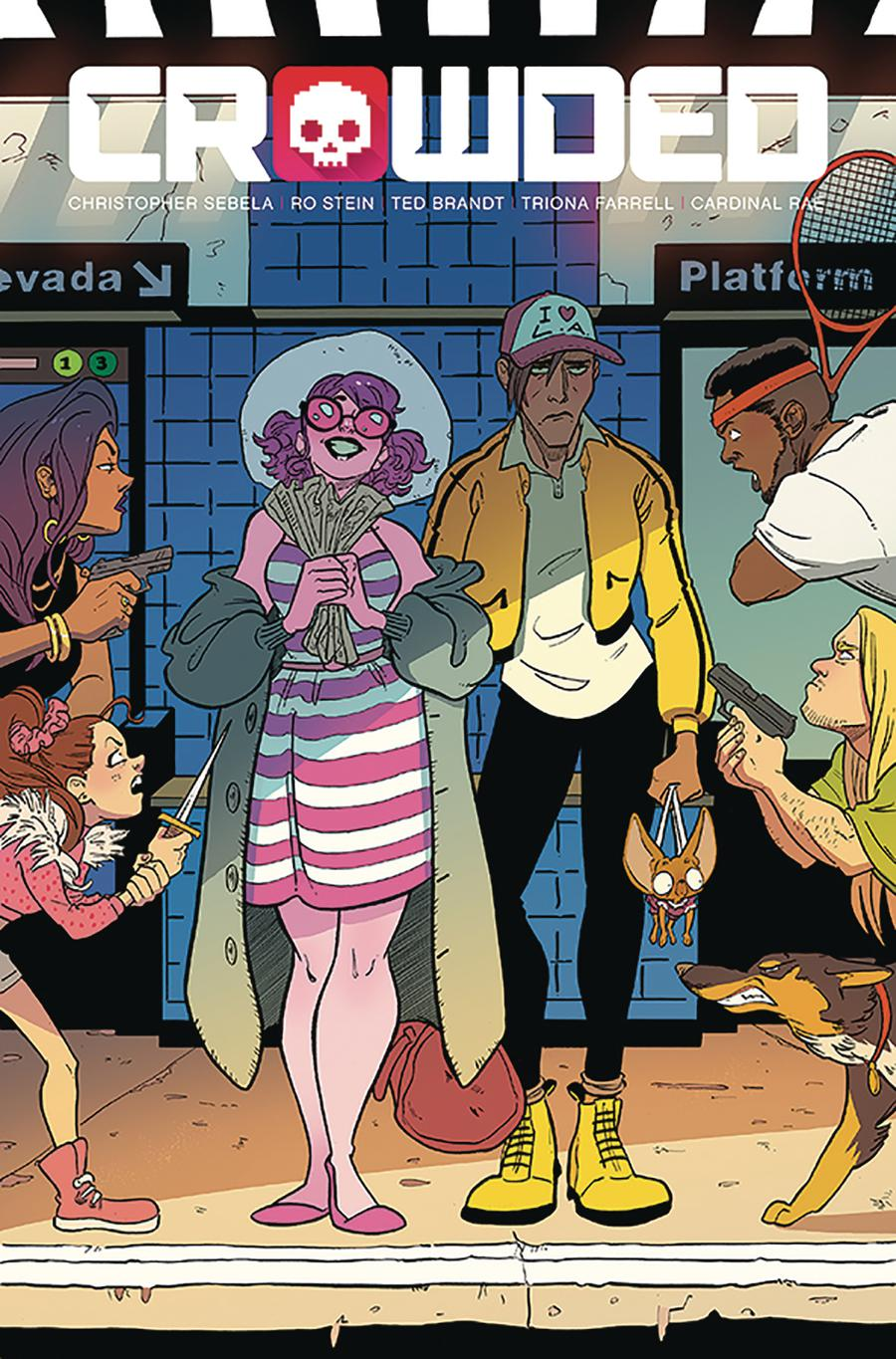 Crowded #7 Cover A Regular Ro Stein Ted Brandt & Triona Farrell Cover