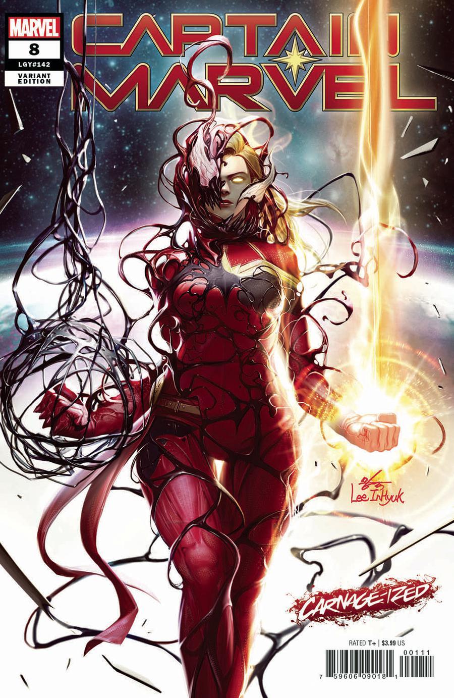 Captain Marvel Vol 9 #8 Cover B Variant Inhyuk Lee Carnage