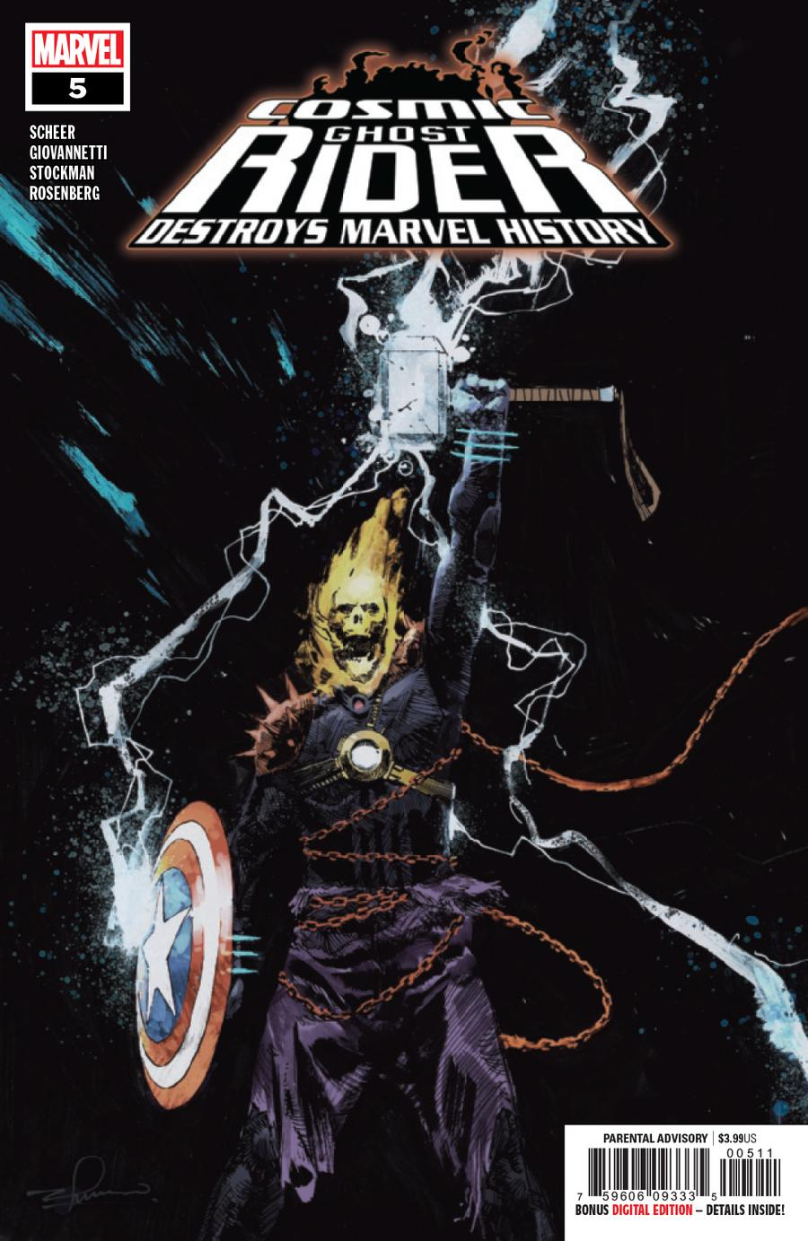 Cosmic Ghost Rider Destroys Marvel History #5 Cover A Regular Gerardo Zaffino Cover
