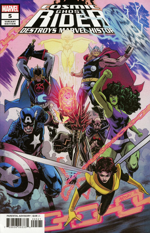 Cosmic Ghost Rider Destroys Marvel History #5 Cover B Variant Scott Hepburn Cover