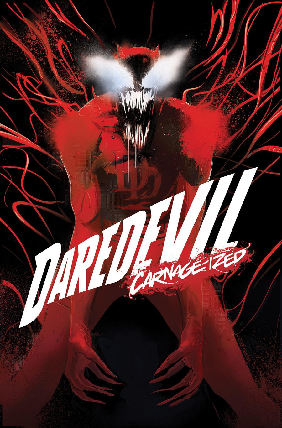 Daredevil Vol 6 #8 Cover B Variant Lee Garbett Carnage-Ized Cover