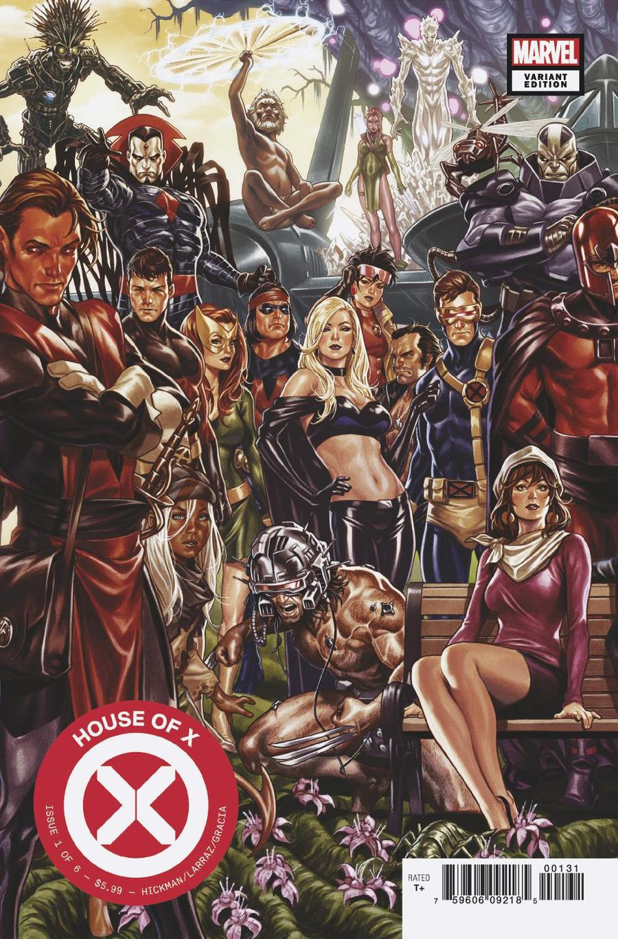 House Of X #1 Cover B Variant Mark Brooks Connecting Cover (1 Of 2)
