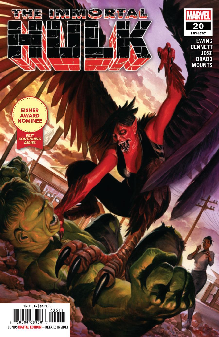 Immortal Hulk #20 Cover A 1st Ptg Regular Alex Ross Cover