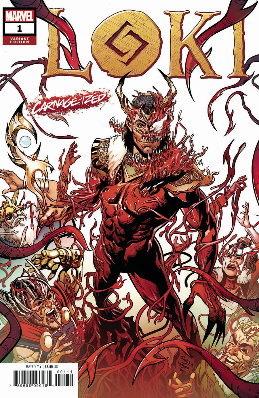 Loki Vol 3 #1 Cover B Variant Will Sliney Carnage-Ized Cover