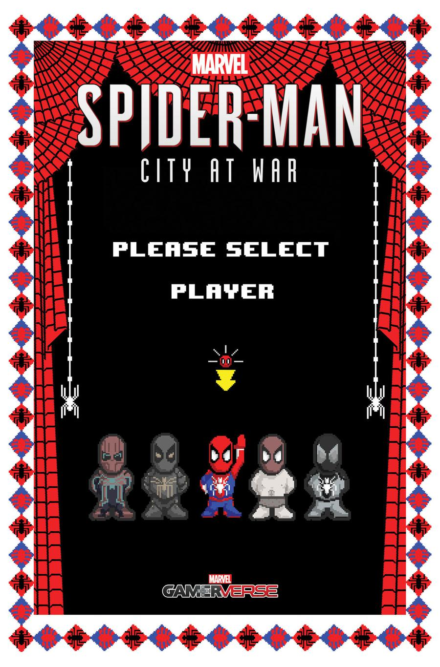 Marvels Spider-Man City At War #5 Cover B Variant Matthew Waite 8-Bit Cover
