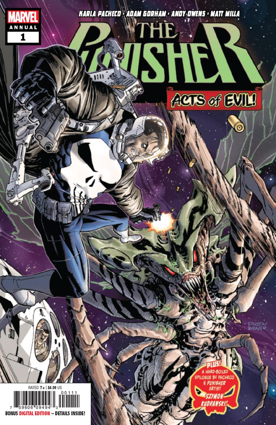 Punisher Vol 11 Annual #1 Cover A Regular Dustin Weaver Cover (Acts Of Evil Tie-In)
