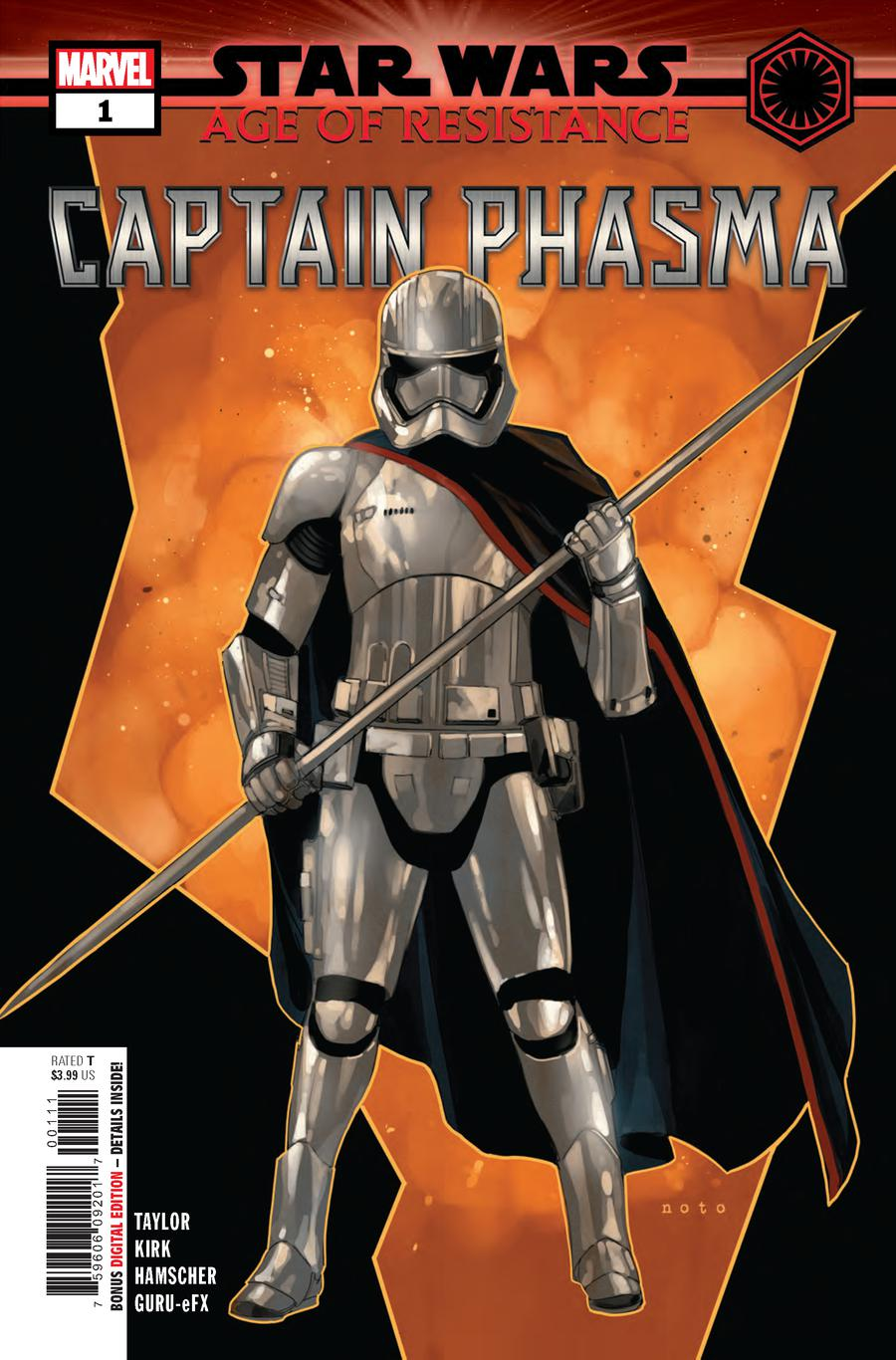 Star Wars Age Of Resistance Captain Phasma #1 Cover A Regular Phil Noto Cover
