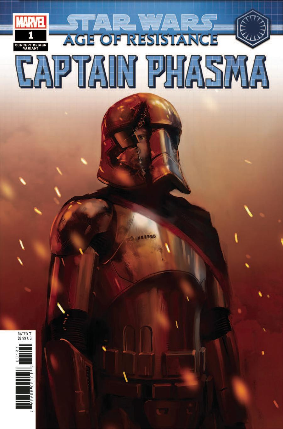 Star Wars Age Of Resistance Captain Phasma #1 Cover C Variant Artist Concept Cover