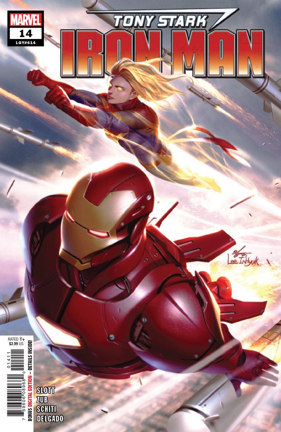 Tony Stark Iron Man #14 Cover A Regular Inhyuk Lee Cover