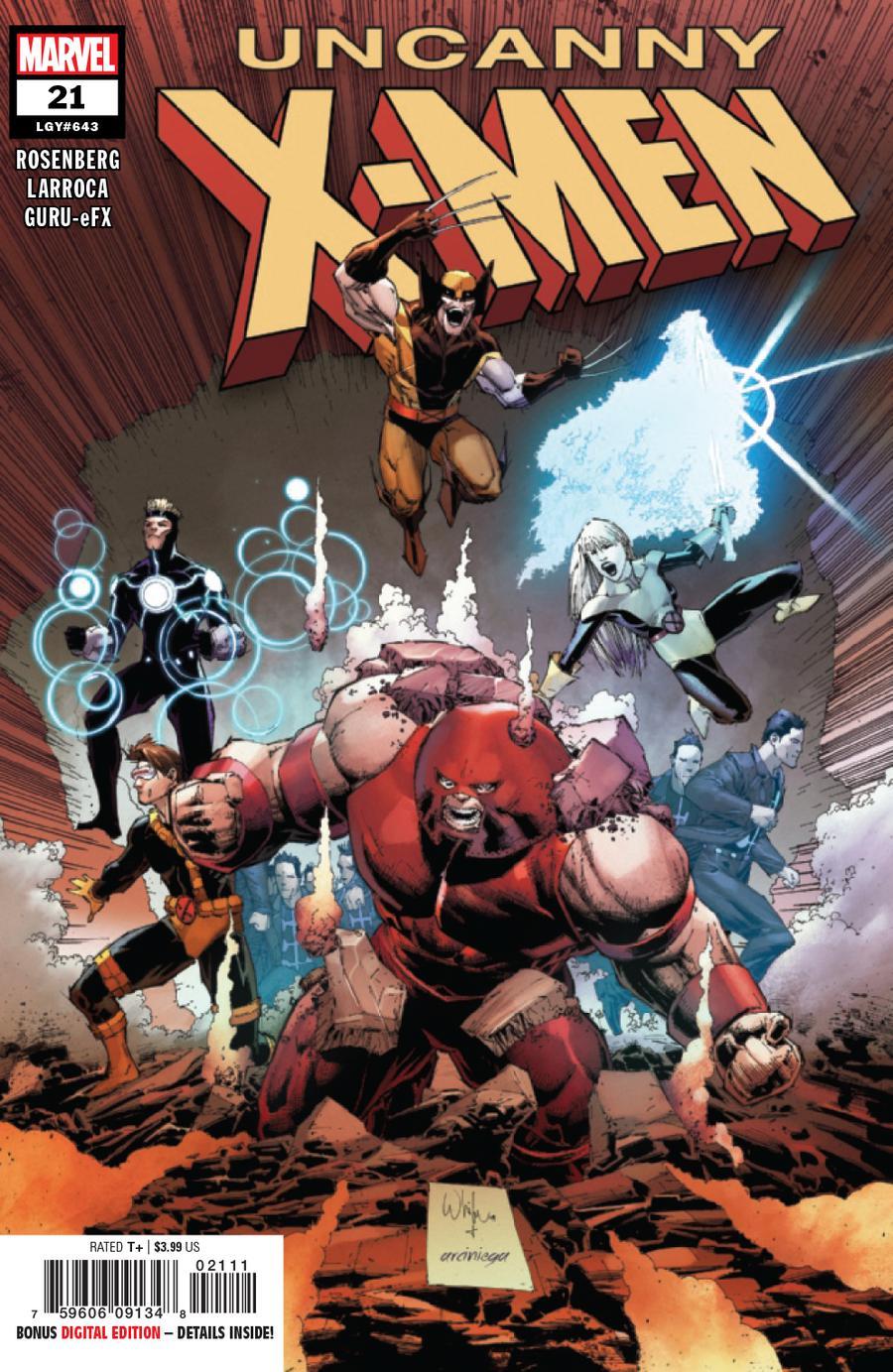 Uncanny X-Men Vol 5 #21 Cover A Regular Whilce Portacio Cover