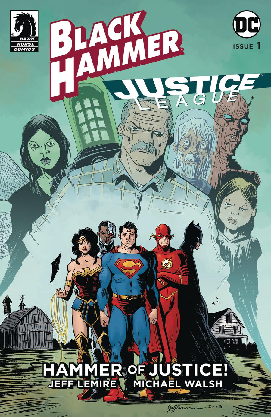 Black Hammer Justice League Hammer Of Justice #1 Cover D Variant Jeff Lemire Cover