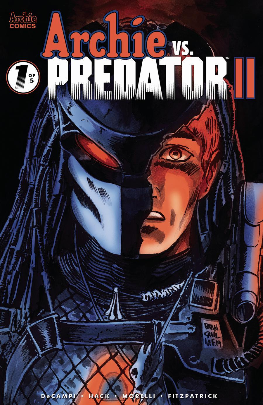 Archie vs Predator II #1 Cover D Variant Francesco Francavilla Cover
