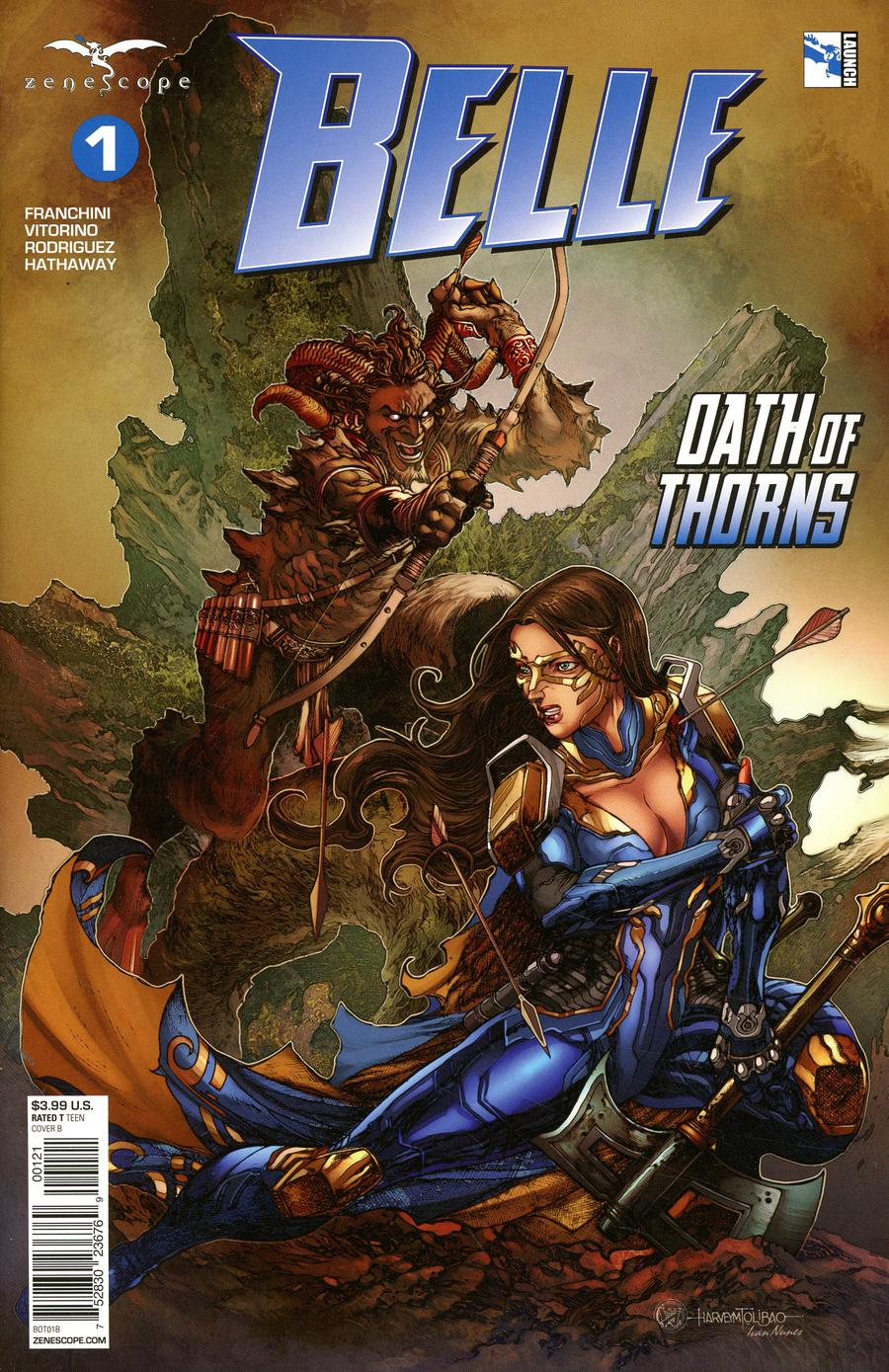 Grimm Fairy Tales Presents Belle Oath Of Thorns #1 Cover B Harvey Tolibao