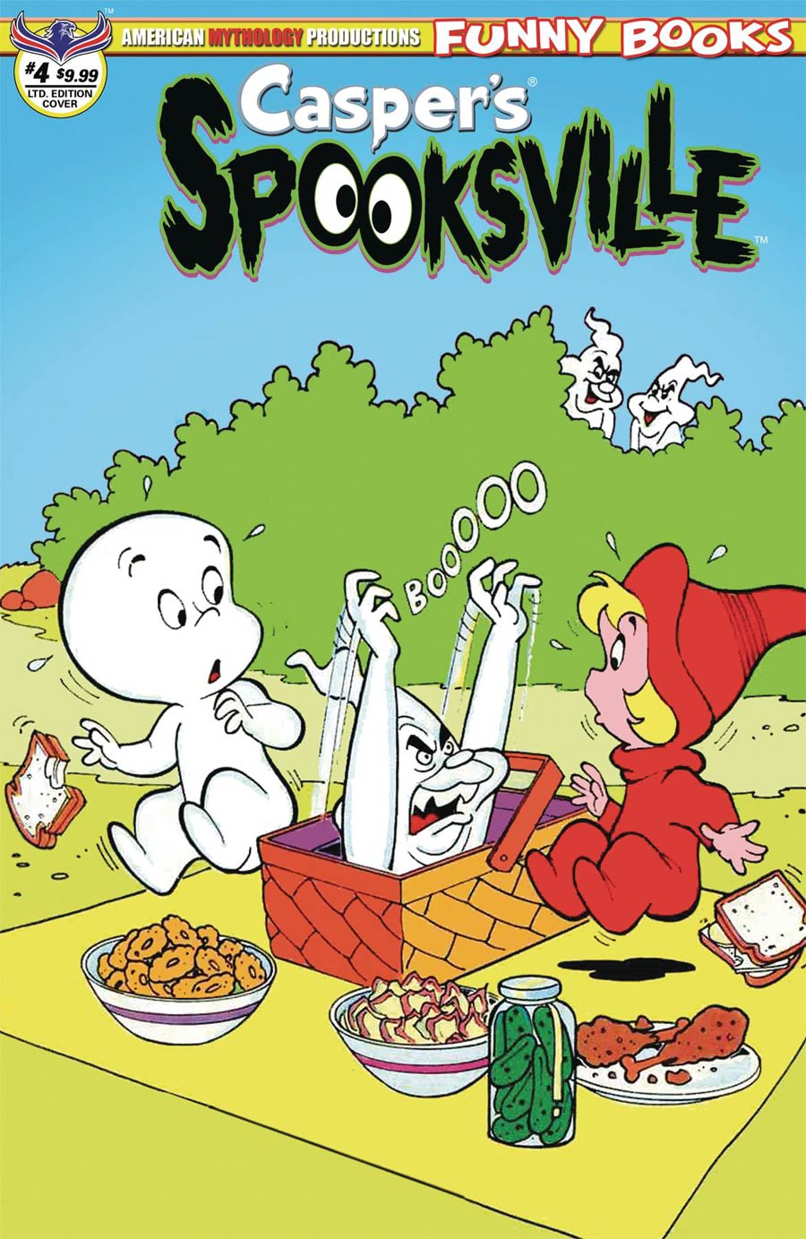 Caspers Spooksville #4 Cover B Limited Edition Retro Animation Variant Cover