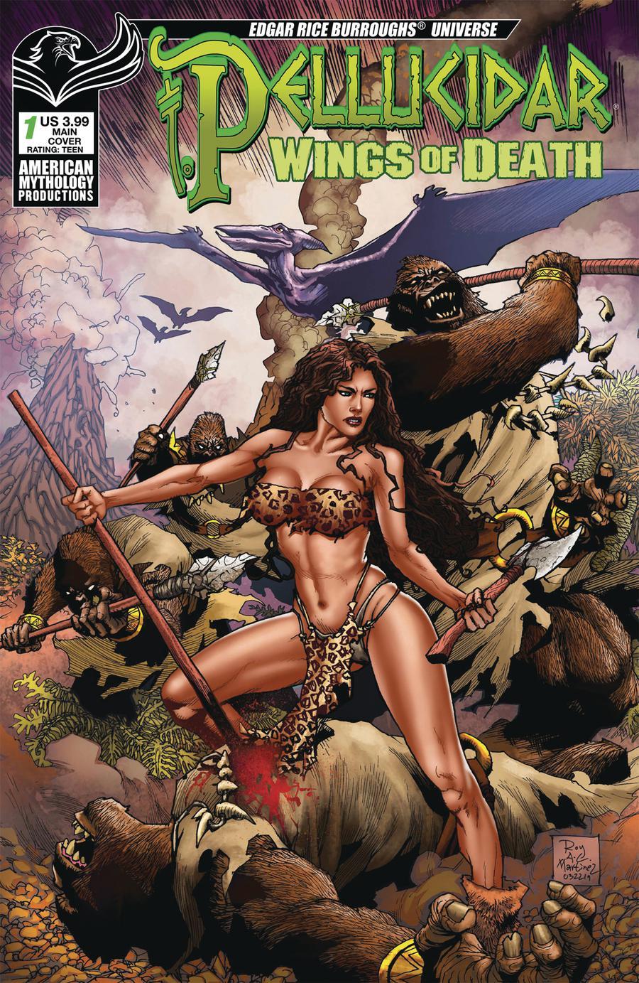 Pellucidar Wings Of Death #1 Cover A Regular Roy Allen Martinez Cover