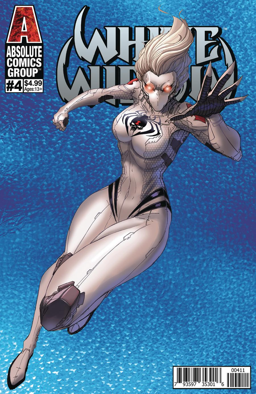 White Widow #4 Cover A Regular Jamie Tyndall Holographic Cover