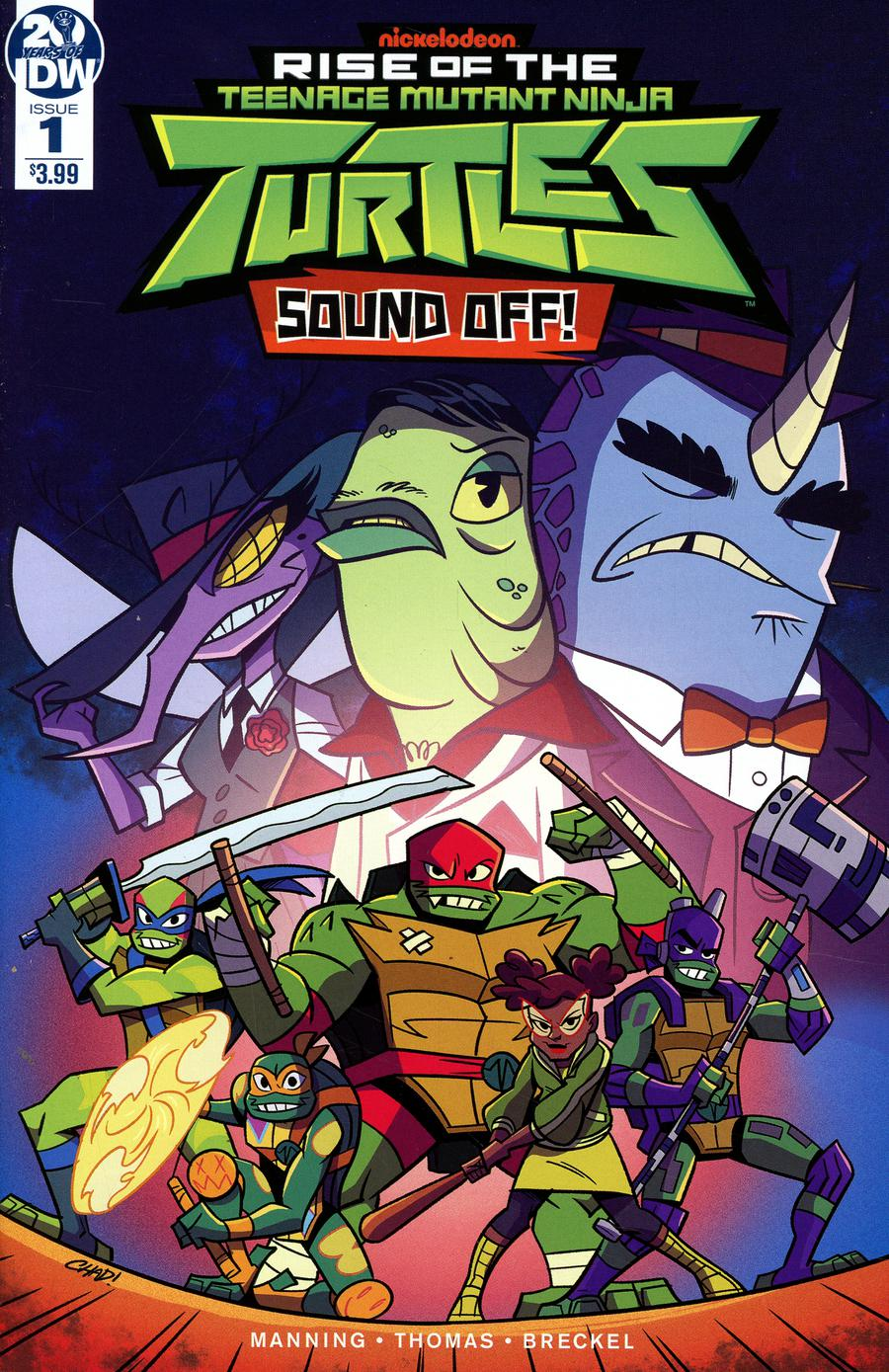 Rise Of The Teenage Mutant Ninja Turtles Sound Off #1 Cover A Regular Chad Thomas Cover