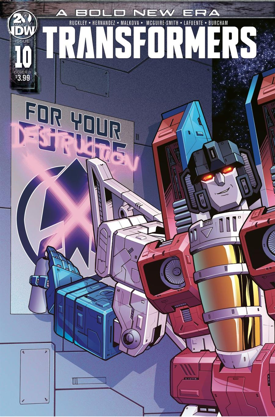Transformers Vol 4 #10 Cover B Variant Beth McGuire-Smith Cover