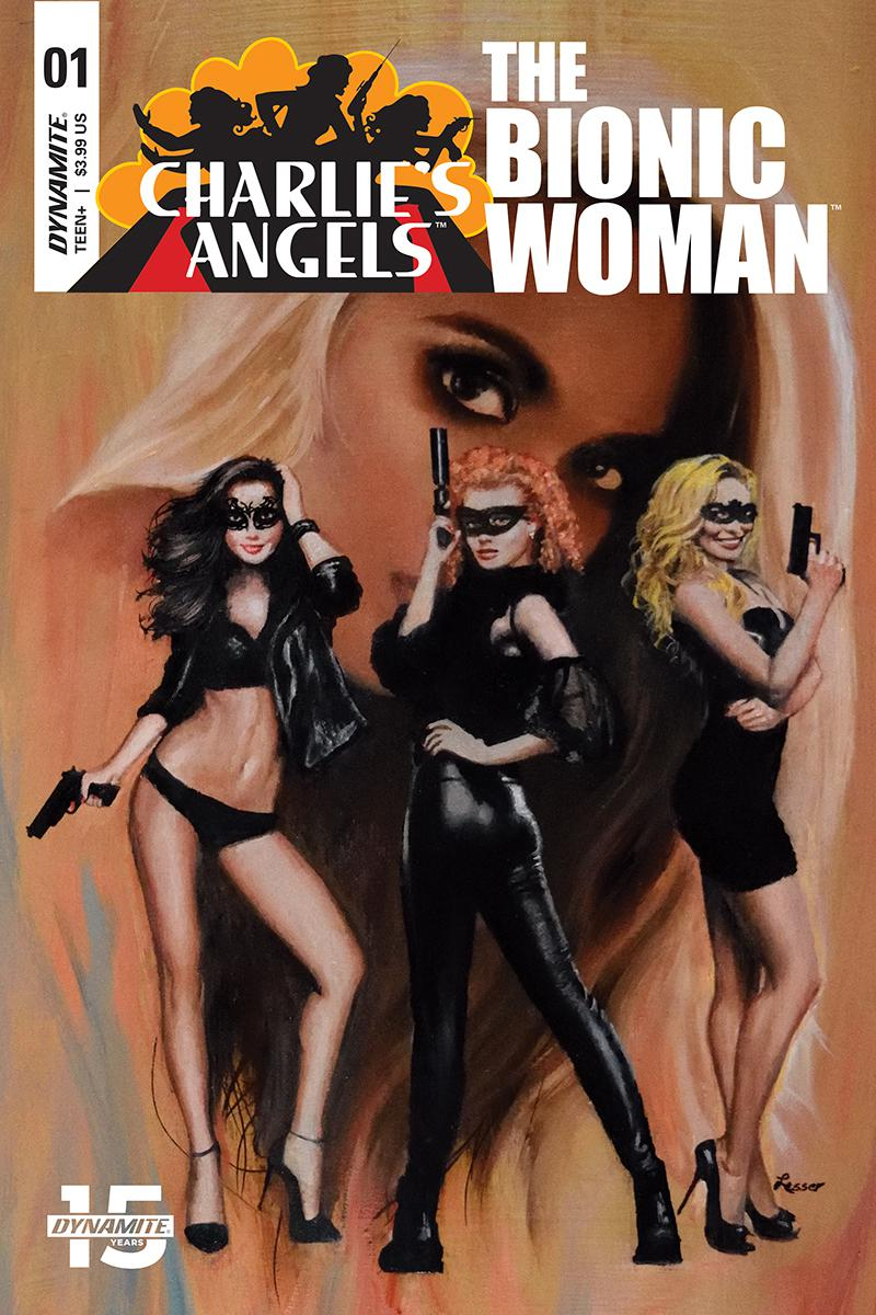 Charlies Angels vs The Bionic Woman #1 Cover C Variant Ron Lesser Cover