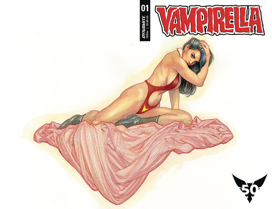 Vampirella Vol 8 #1 Cover A Regular Frank Cho Wraparound Cover