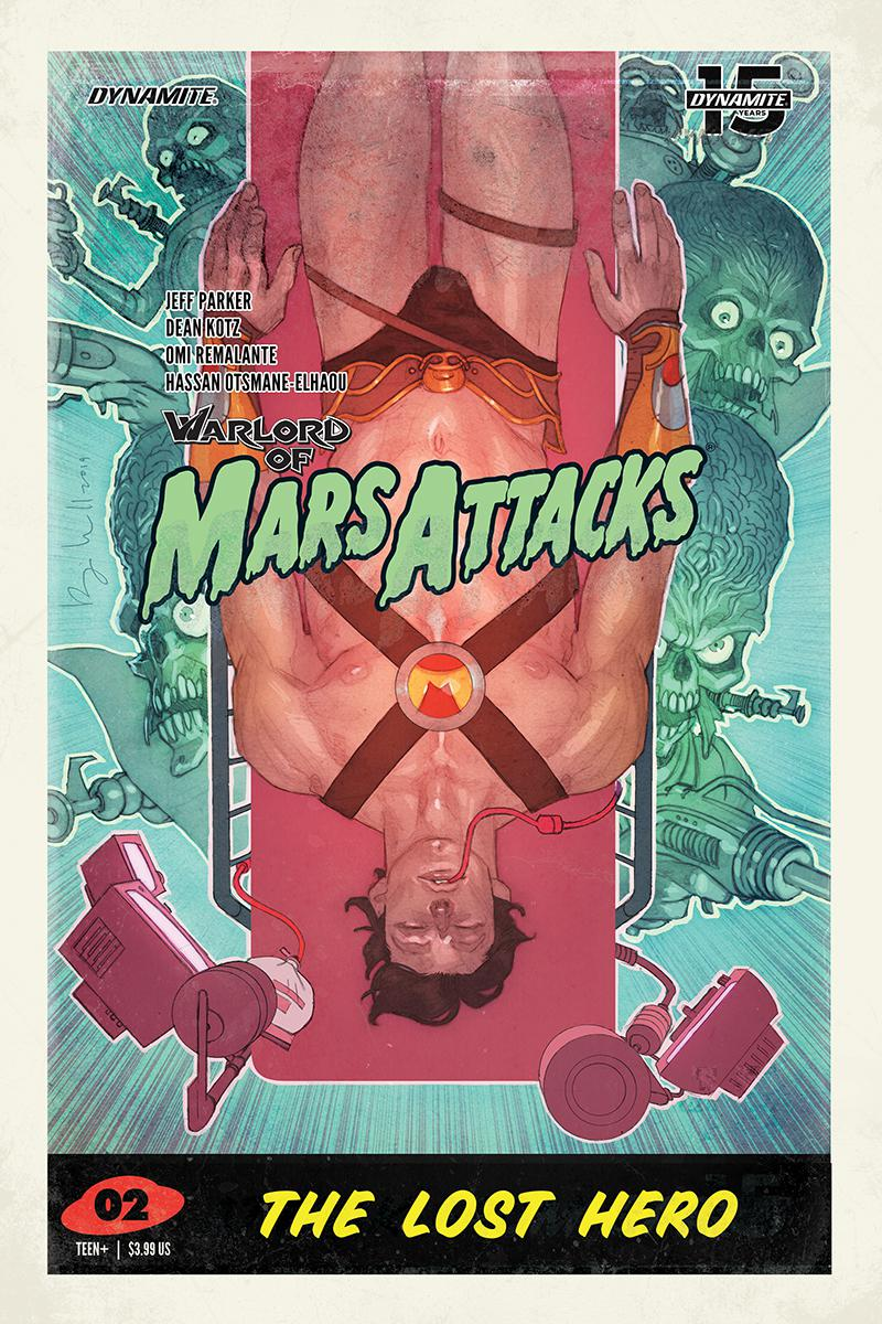 Warlord Of Mars Attacks #2 Cover D Variant Ben Caldwell Trading Card Cover