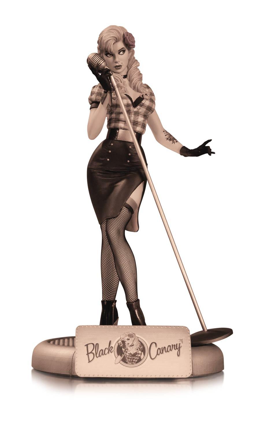 DC Comics Bombshells Black Canary Statue Variant Sepia Tone
