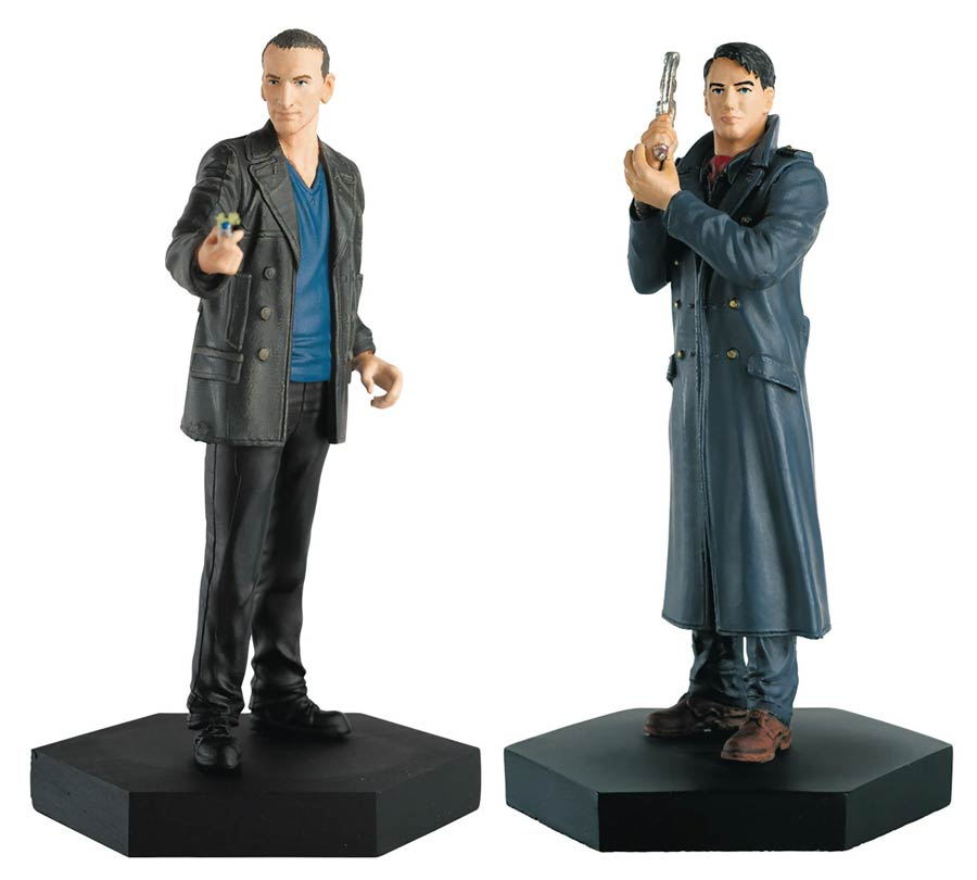 Doctor Who Figurine Collection Companion Set #5 Ninth Doctor & Jack Harkness