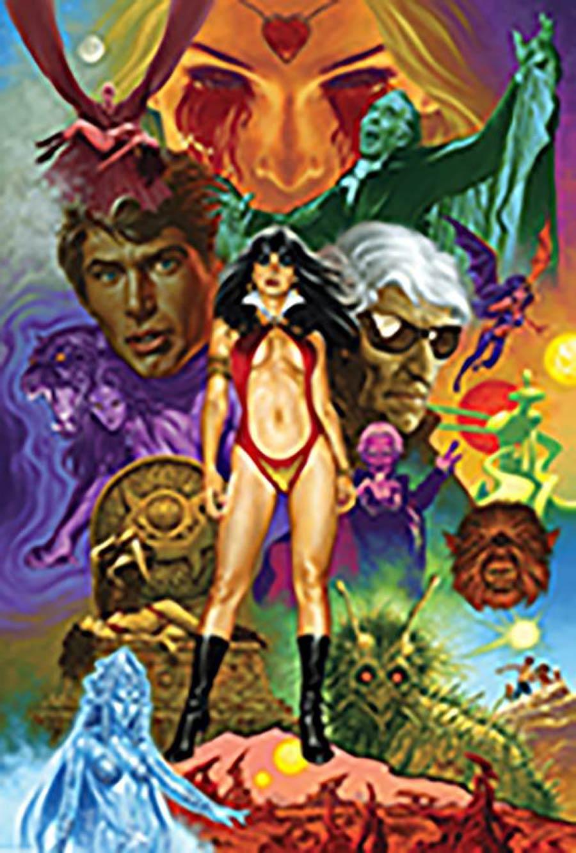 Vampirella 50th Anniversary Masterpiece High-End Giclee Signed By Joe Jusko