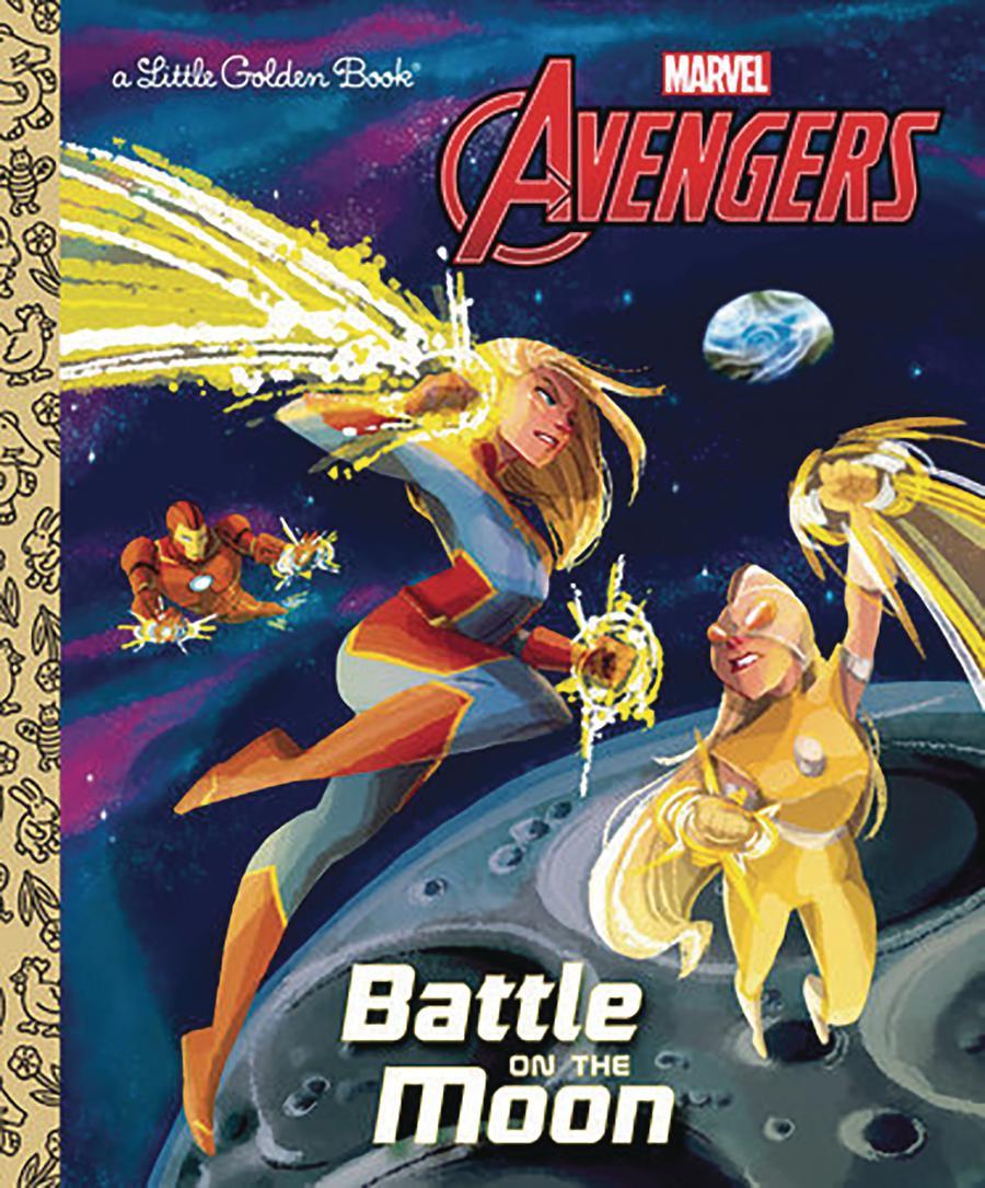 Avengers Battle On The Moon Little Golden Book HC