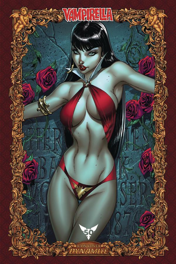 Vampirella Vol 8 #1 Cover O Incentive J Scott Campbell Icon Variant Cover