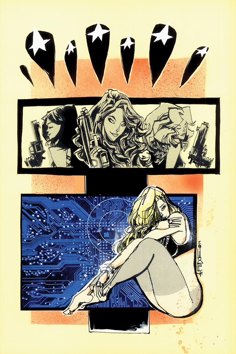 Charlies Angels vs The Bionic Woman #1 Cover F Incentive Jim Mahfood Virgin Cover