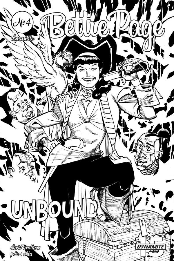 Bettie Page Unbound #4 Cover I Incentive David Williams Black & White Cover